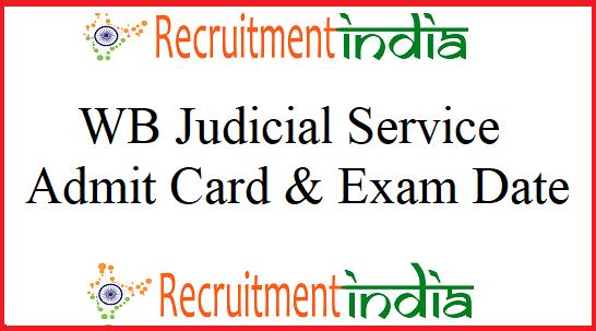 West Bengal Judicial Service Admit Card