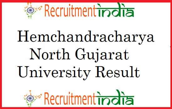 Hemchandracharya North Gujarat University Result