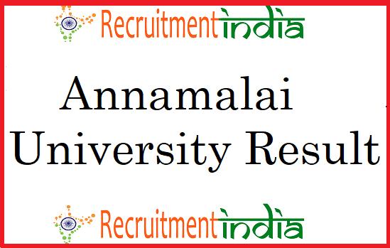 Annamalai University Result