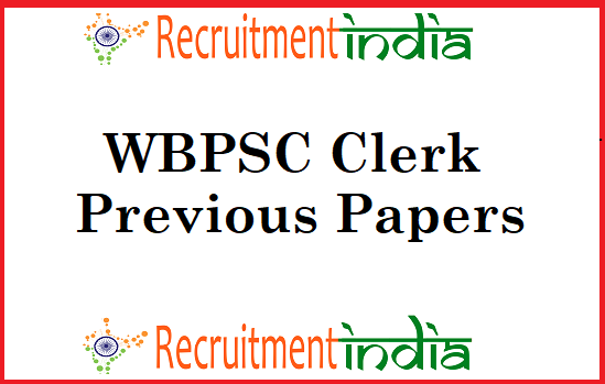 WBPSC Clerk Previous Papers