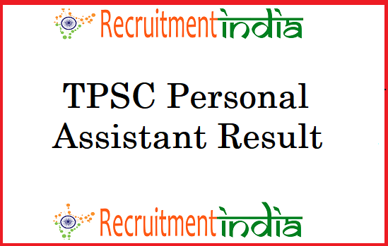 TPSC Personal Assistant Result