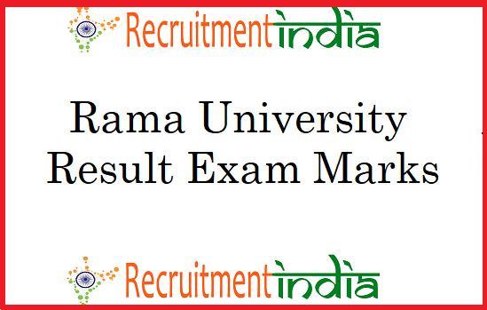 Rama University Result 2019 (Released) UG PG Semester Exams Marks