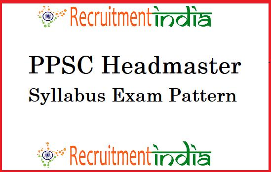 PPSC Headmaster Syllabus 2019 (New) Principal, BPEO Exam Pattern
