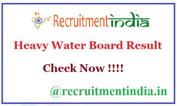 Heavy Water Board Result
