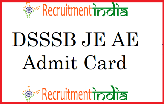 DSSSB JE Admit Card
