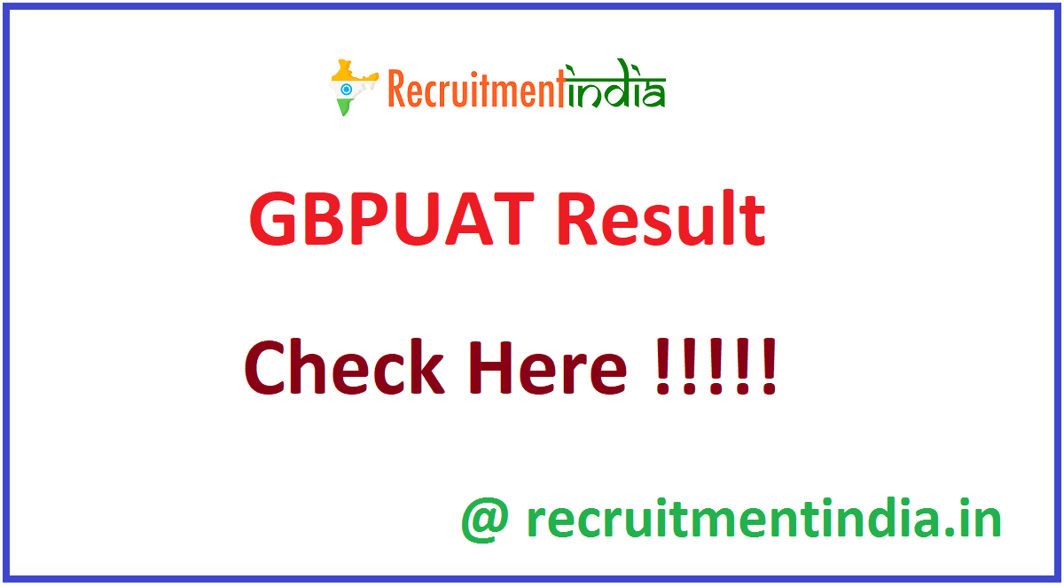 GBPUAT Result