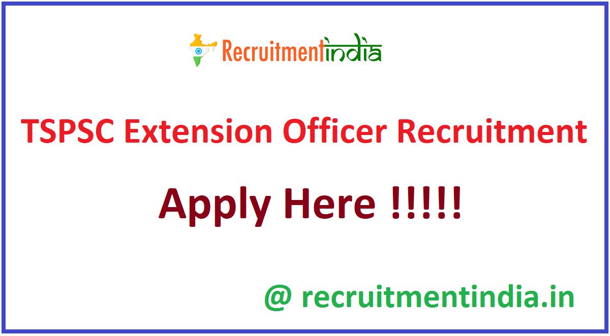 TSPSC Extension Officer Recruitment