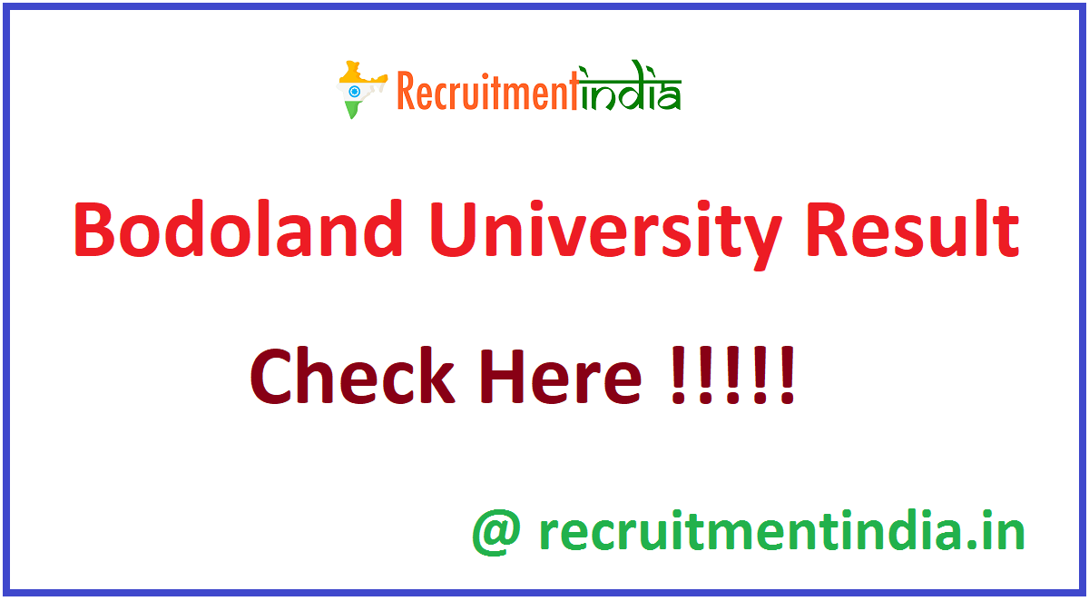 Bodoland University Result
