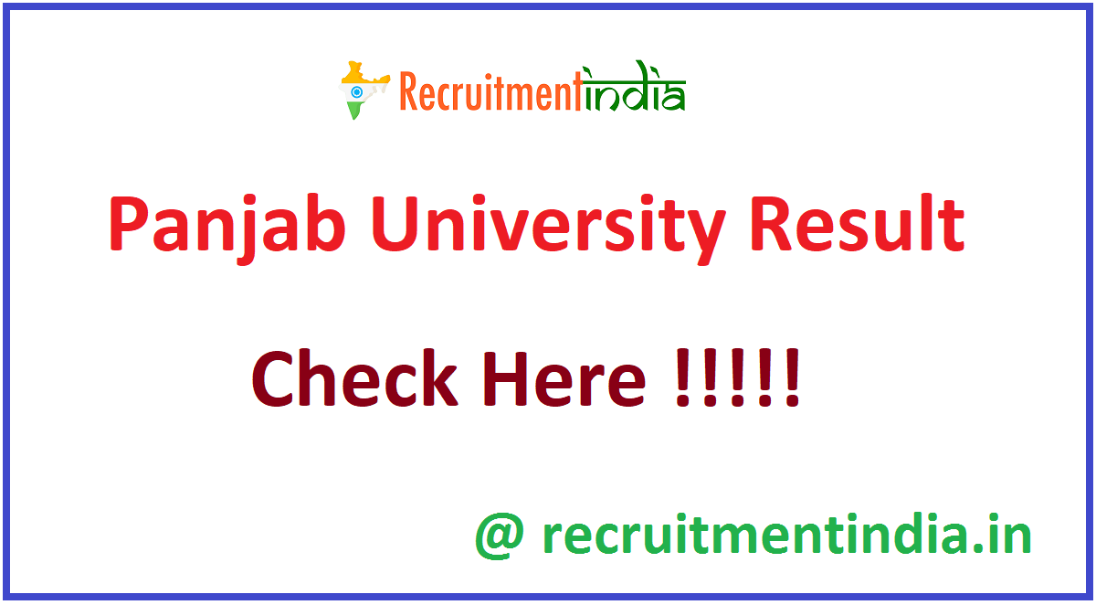 Panjab University Result
