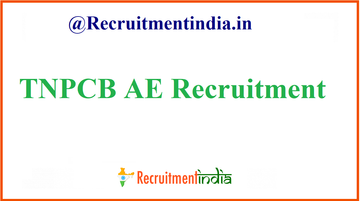TNPCB AE Recruitment