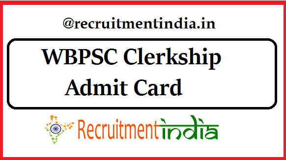 WBPSC Clerkship Admit Card