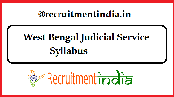 West Bengal Judicial Service Syllabus