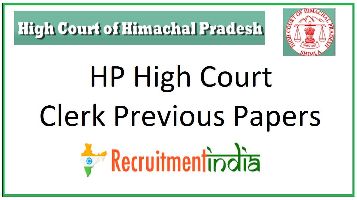 HP High Court Clerk Previous Papers