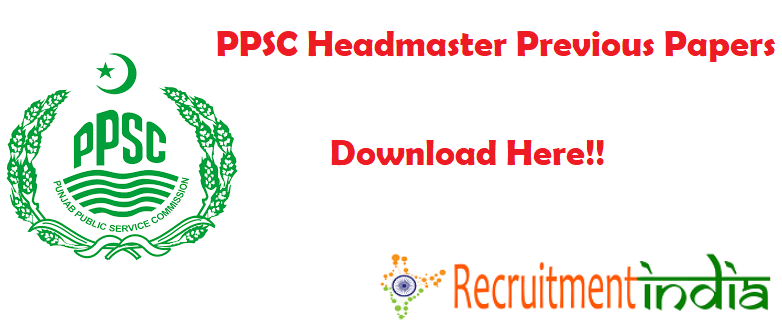 PPSC Headmaster Previous Papers