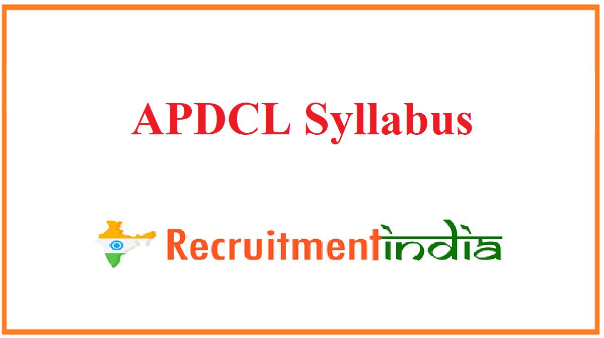 APDCL Syllabus