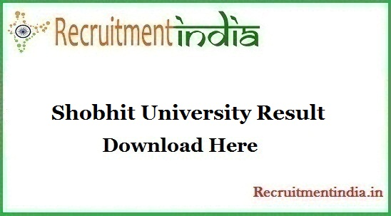 Shobhit University Result