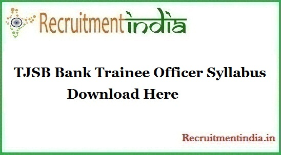 TJSB Bank Trainee Officer Syllabus