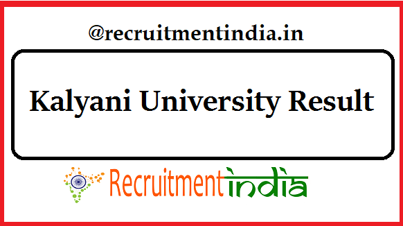 Kalyani University Result