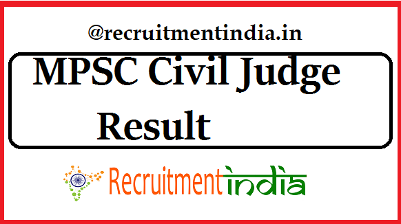 MPSC Civil Judge Result