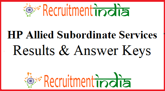 HPPSC Allied Subordinate Services Result