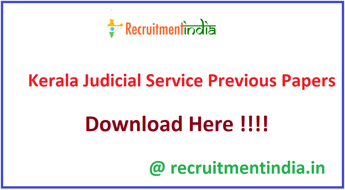 Kerala Judicial Service Previous Papers