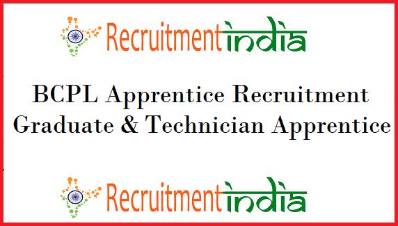 BCPL Apprentice Recruitment
