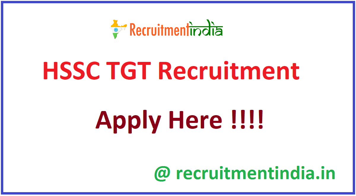 HSSC TGT Recruitment