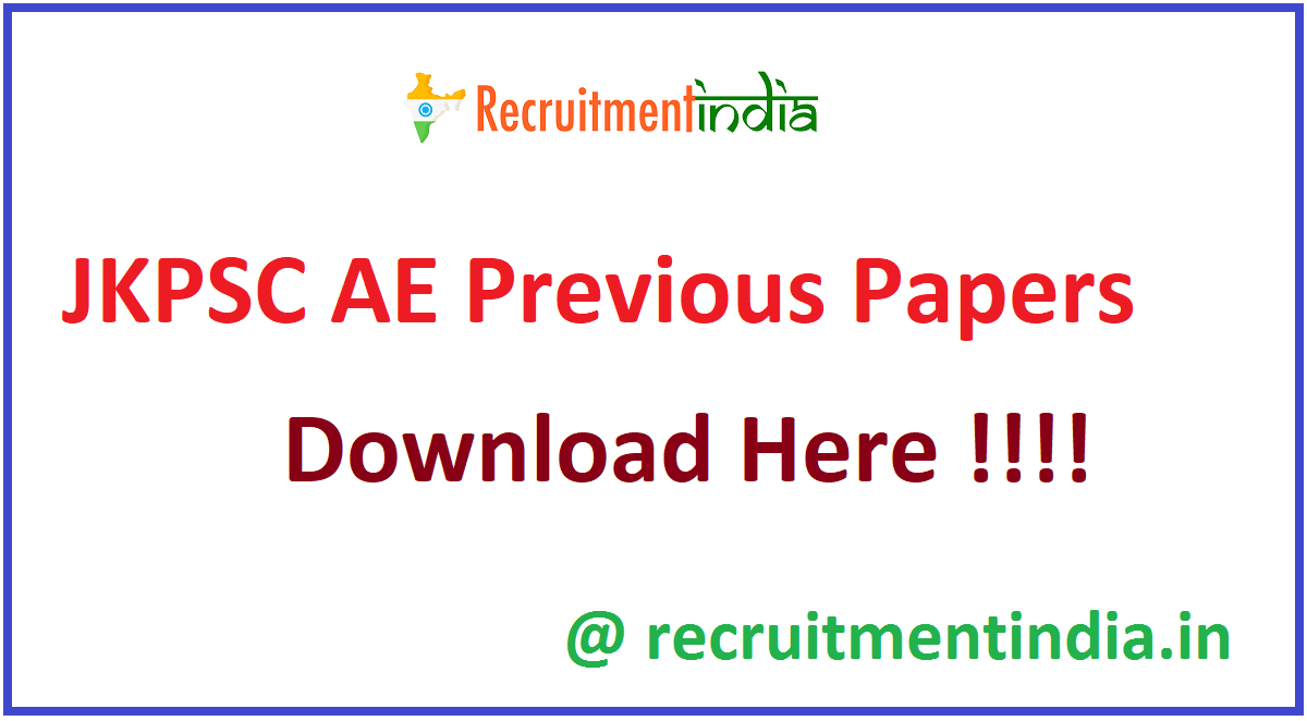 JKPSC AE Previous Papers