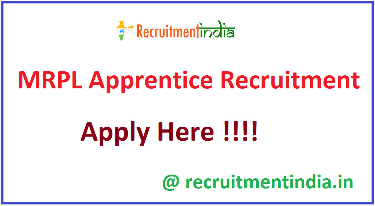 MRPL Apprentice Recruitment