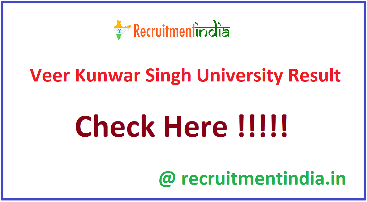 Veer Kunwar Singh University Result