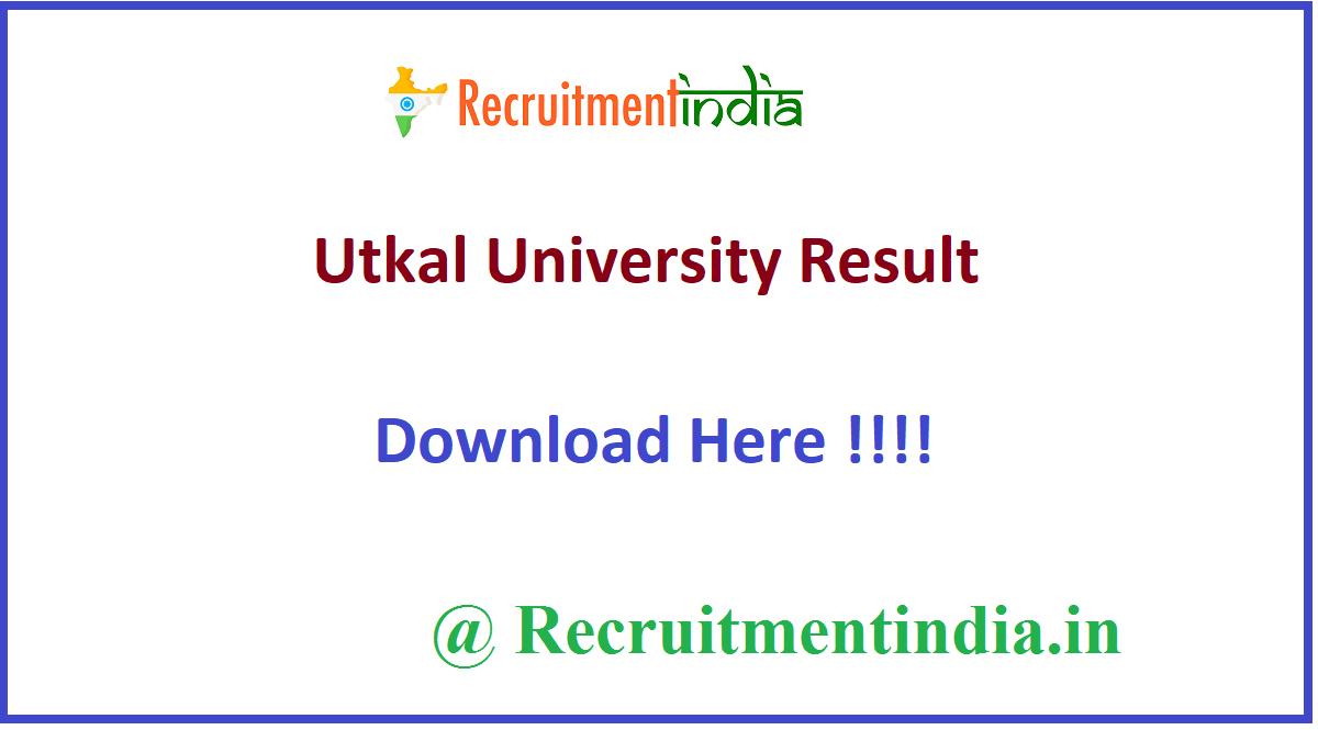 Utkal University Result
