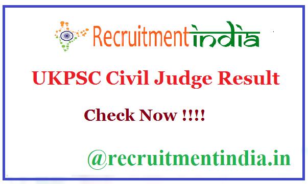 UKPSC Civil Judge Result