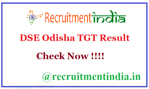 DSE Odisha TGT Result