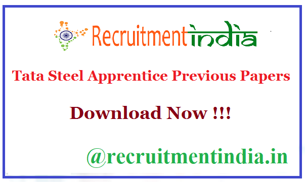 Tata Steel Apprentice Previous Papers