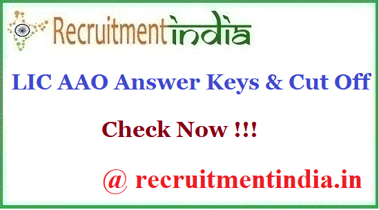 LIC AAO Answer Keys