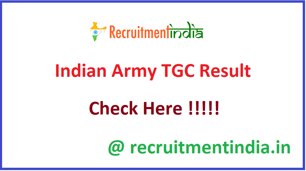 Indian Army TGC Result