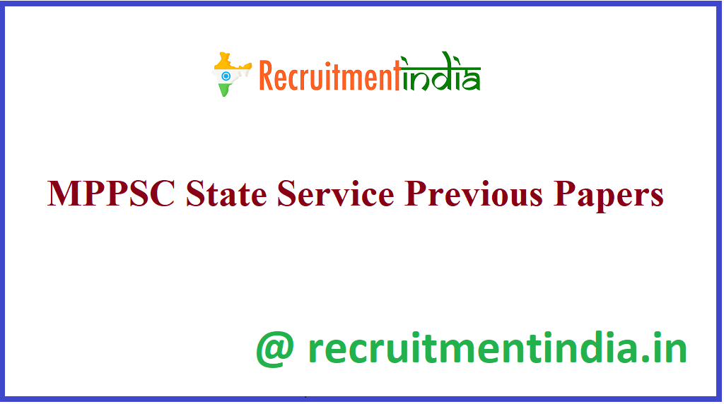 MPPSC State Service Previous Papers