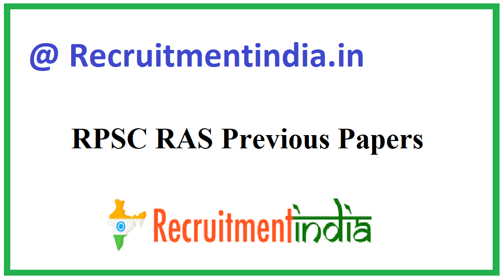 RPSC RAS Previous Papers