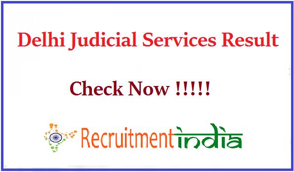 Delhi Judicial Services Result