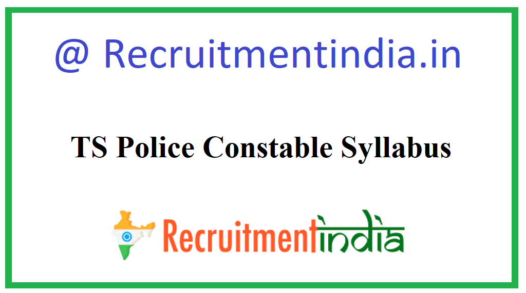 TS Police Constable Syllabus