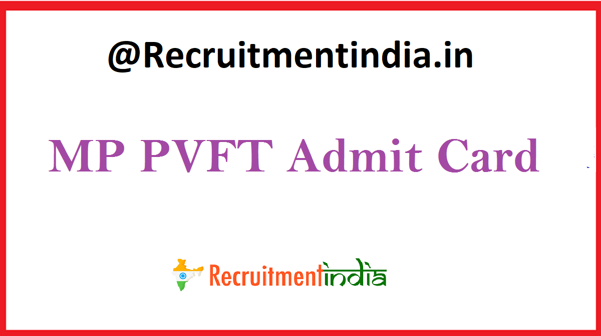 MP PVFT Admit Card