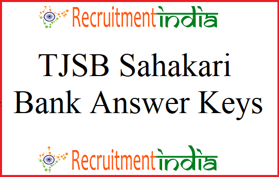 TJSB Sahakari Bank Answer Keys