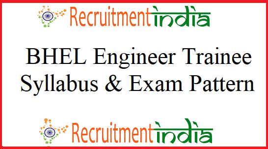 BHEL Engineer Trainee Syllabus