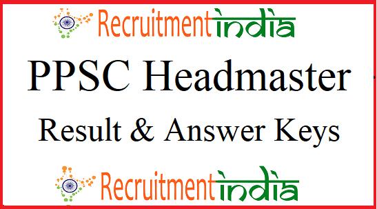 PPSC Headmaster Result