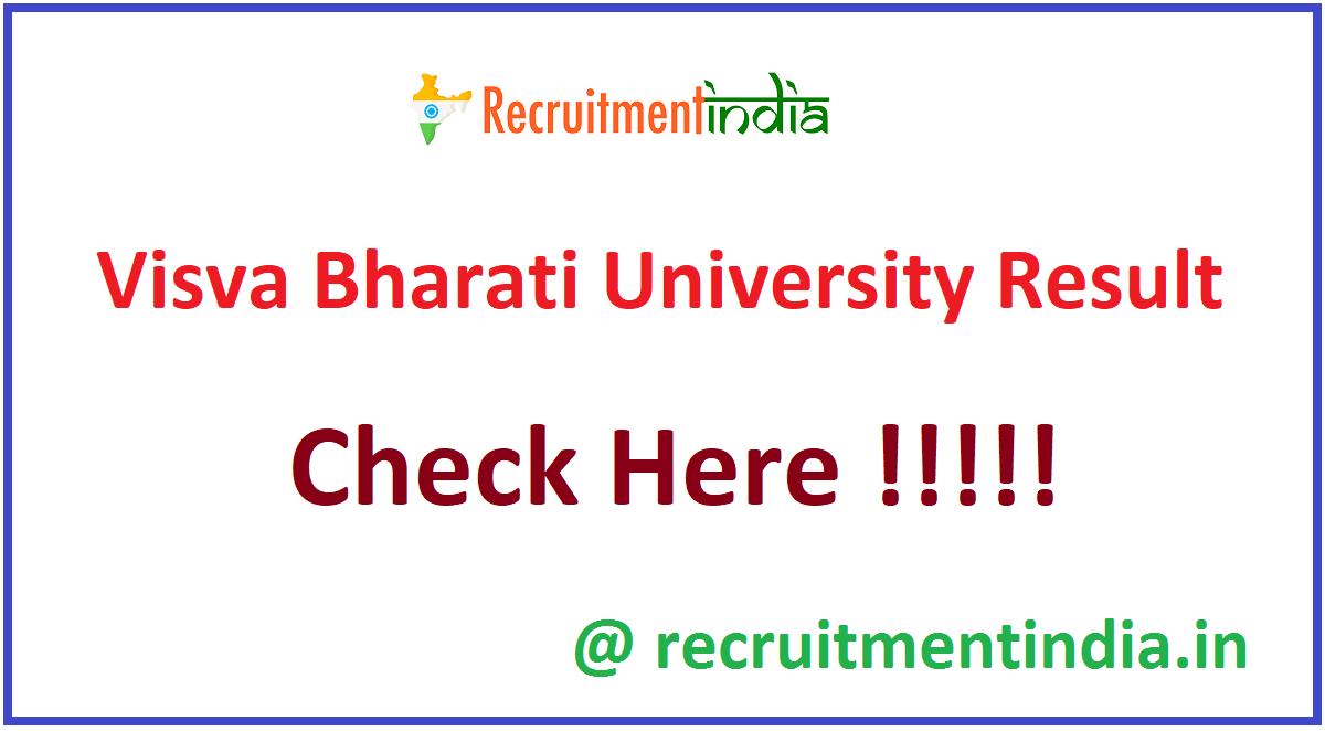Visva Bharati University Result