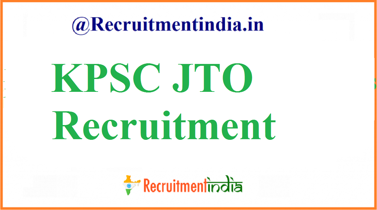 KPSC JTO Recruitment