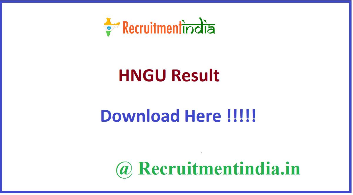 HNGU Result