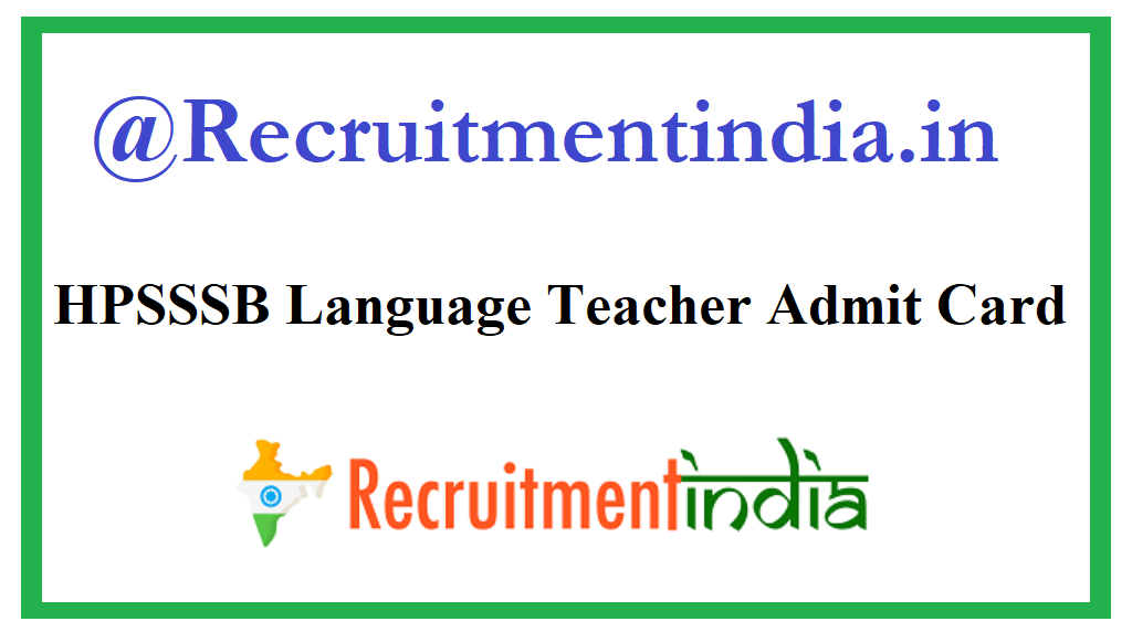 HPSSSB Language Teacher Admit Card