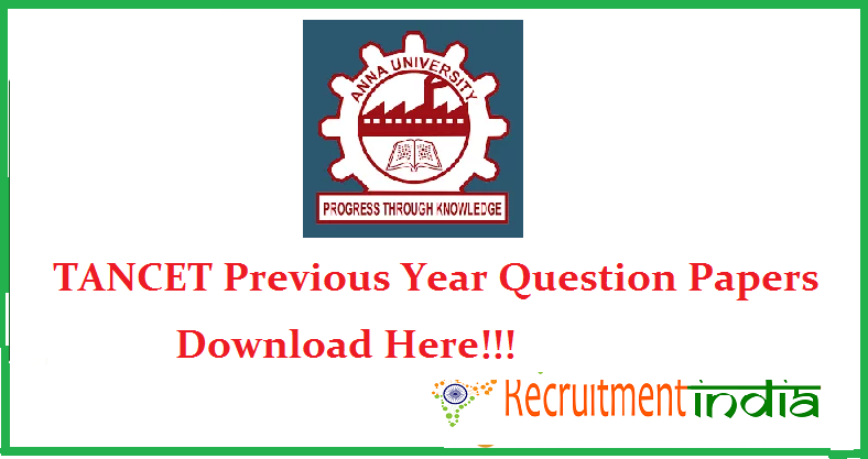 TANCET Previous Papers & Sample Question Papers For All Branches