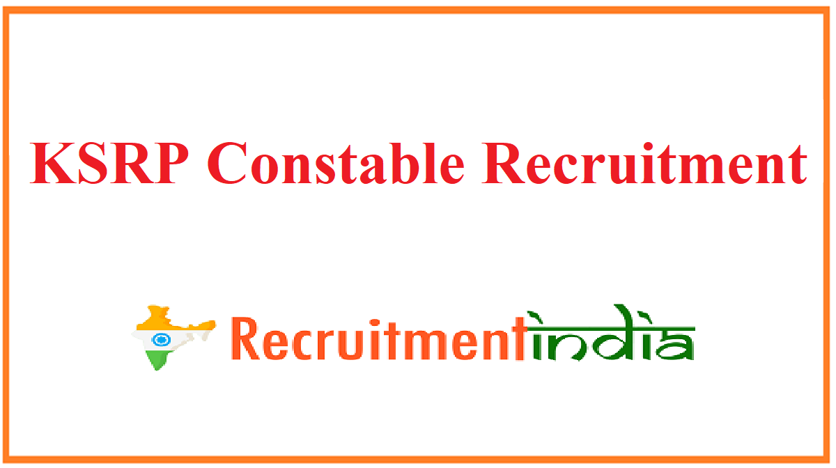 KSRP Constable Recruitment